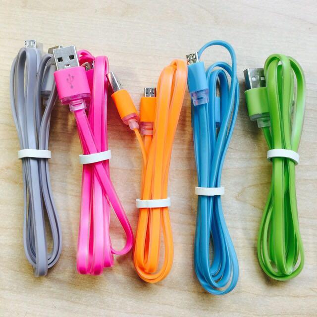 Android Micro 彩色充電線
