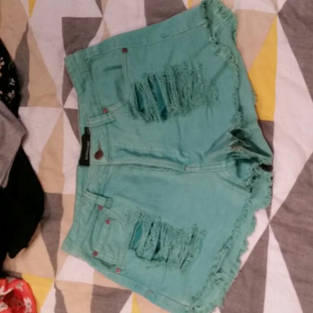 Bright Green Mink Pink Shorts