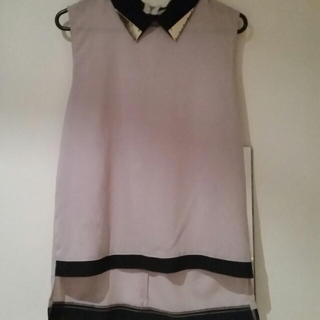 Chiffon Collard Shirt