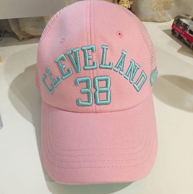 (全新)粉色cleveland38鴨舌帽