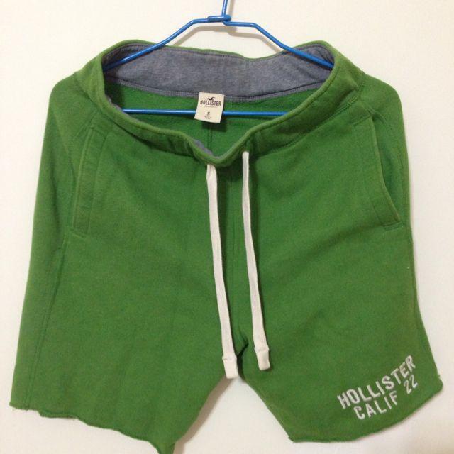 Hollister 棉 短褲 草綠色 綠色 S號