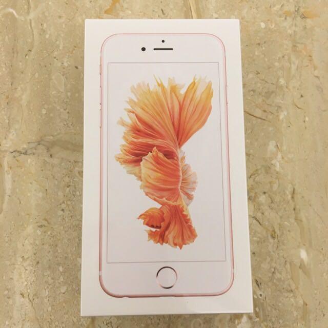 iPhone 6s玫瑰金64g 全新未拆封