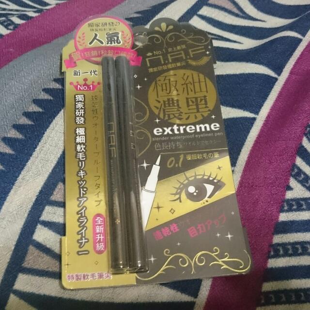 N.A.F 0.1極細豔黑防水眼線液筆                  (第三代全新升級版)