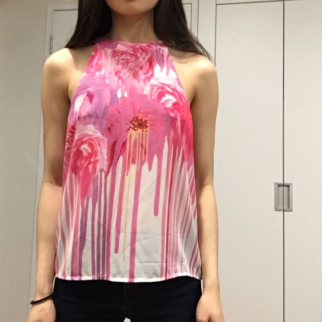 Pink Flower Graphic Top