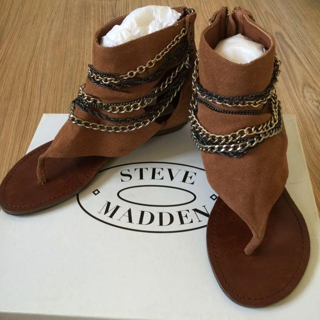 STEVE MADDEN羅馬麂皮涼鞋