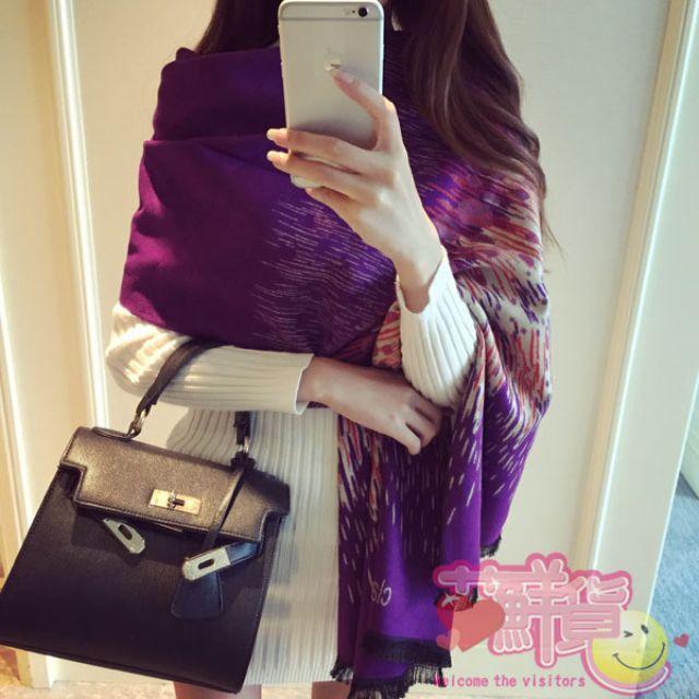 WT032,炫彩流行羊絨圍巾