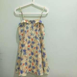 日本Laforet百貨購買熱帶風情吊帶洋裝