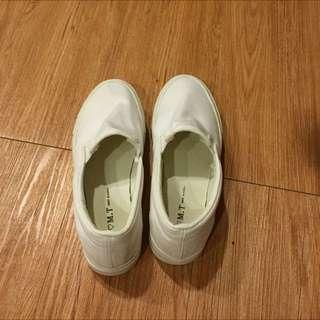 小白鞋 白色厚底鞋 包鞋 懶人鞋
