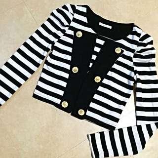 ‼️加購價‼️ 海軍風 黑白 條紋 小外套