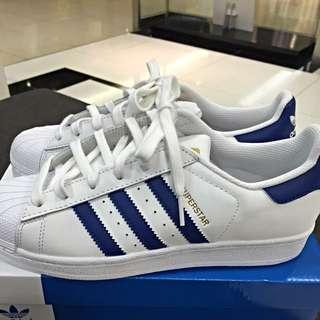 Adidas Original Super Star 全新品 未落地 寶藍 38號