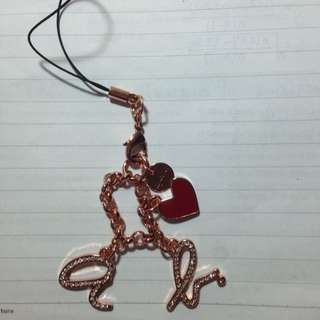 🚚 Agnes b 吊飾 玫瑰金 鑽
