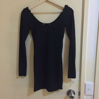 Low Back Black Bodycon