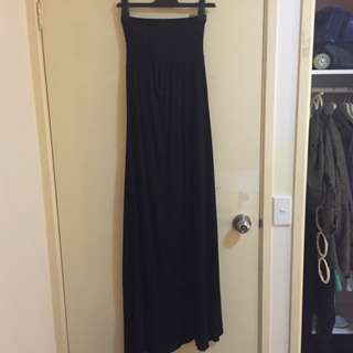 H&M Black Sleeveless Maxi Dress