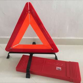 Brand New Portable Triangular Warning Sign