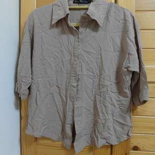 軟質料7分袖襯衫
