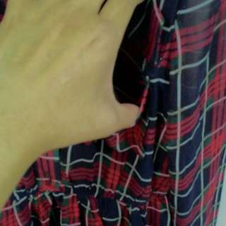 Starmimi英倫風格子洋裝S號