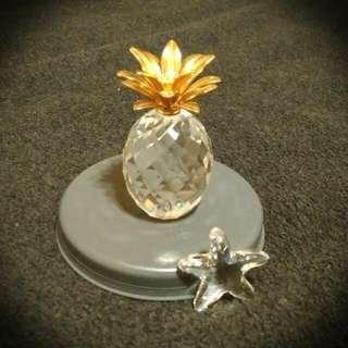Swarovski水晶擺飾- 旺來(鳳梨)