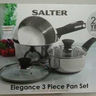 @愛買寶-英國Salter 不銹鋼3入組 鍋具組