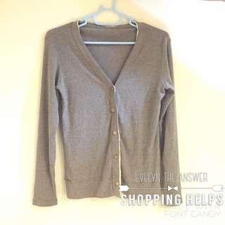 灰色針織外套