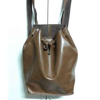 全真皮設計感 純手工後背包