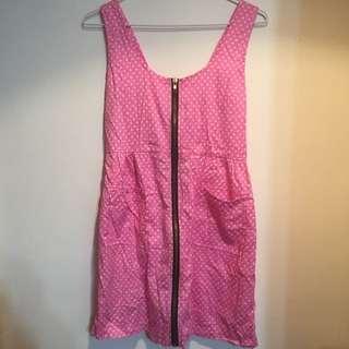 🚚 日系粉紅點點洋裝💕
