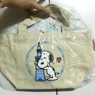 日本 晴空塔限定 Snoopy史努比 手提袋