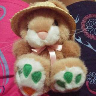 New!!! Super Cute Bunny Toy With Straw Hat!!!