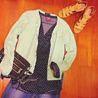 🇫🇷 法國製agnes.b 經典款Snap cardigan 精緻小b扣 扣