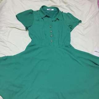 Military Skater Dress Green UK 8