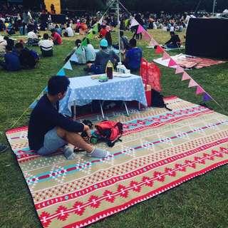 野餐墊民族風200*240加大加厚加寬防水帳篷露營地墊