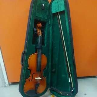 Violin 4/4 ( No Brand ) & Shoulder Rest