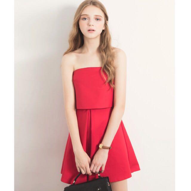 韓國直送-西裝布料小洋裝