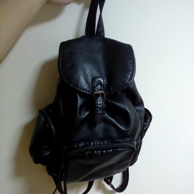 🎉免運🎉黑色後背包+小方包