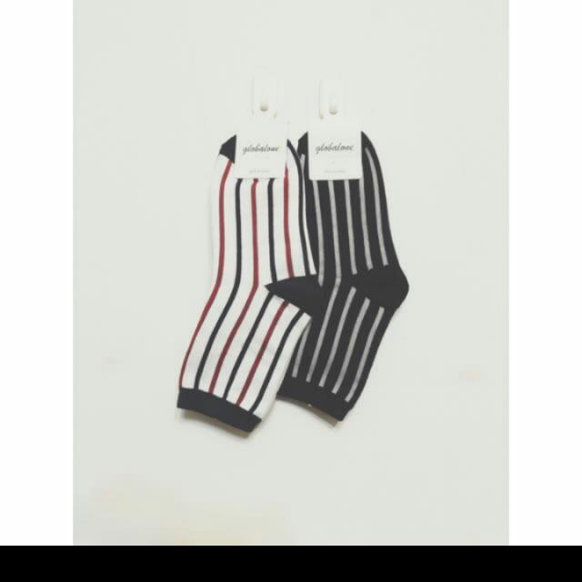 紅藍白條紋襪