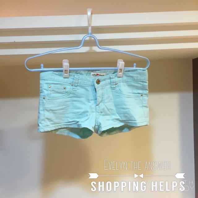 藍綠色短褲💦