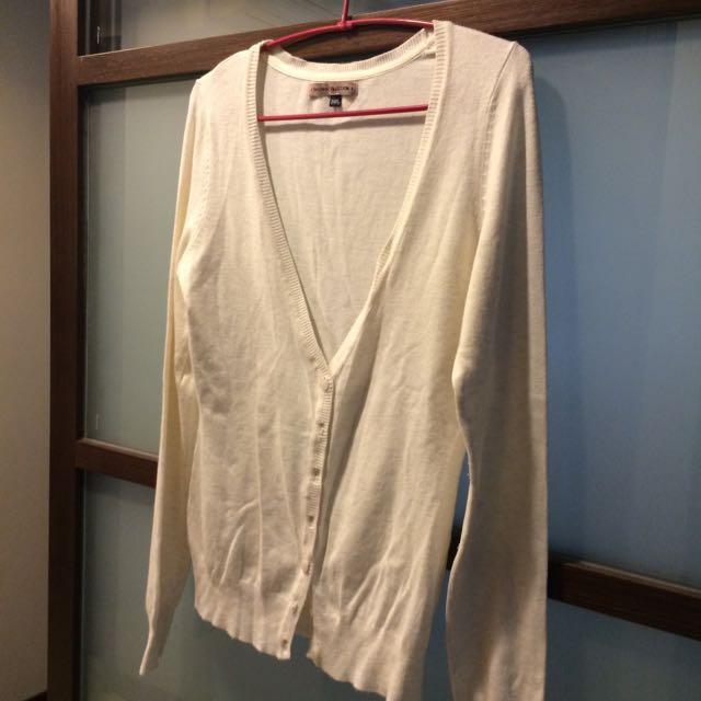 比利時購入 Bershka 米白針織外套
