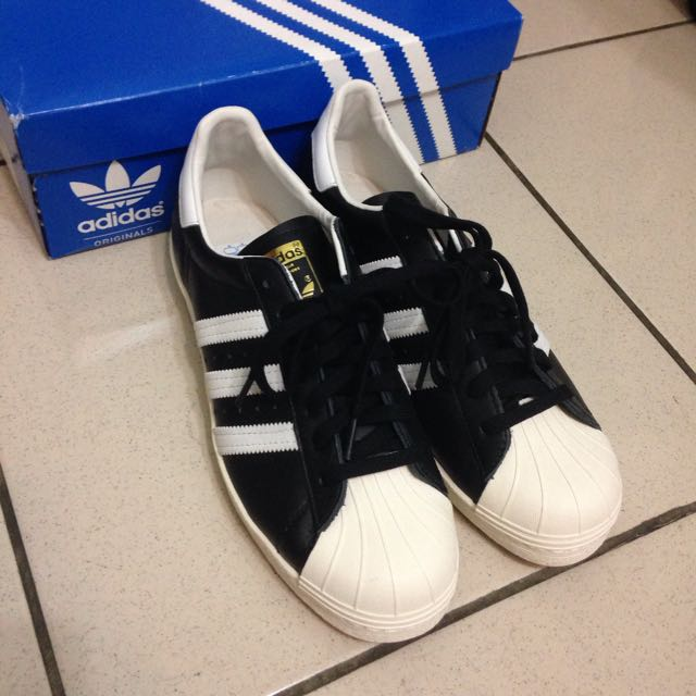 Adidas Superstar 80s 黑白 經典 US10