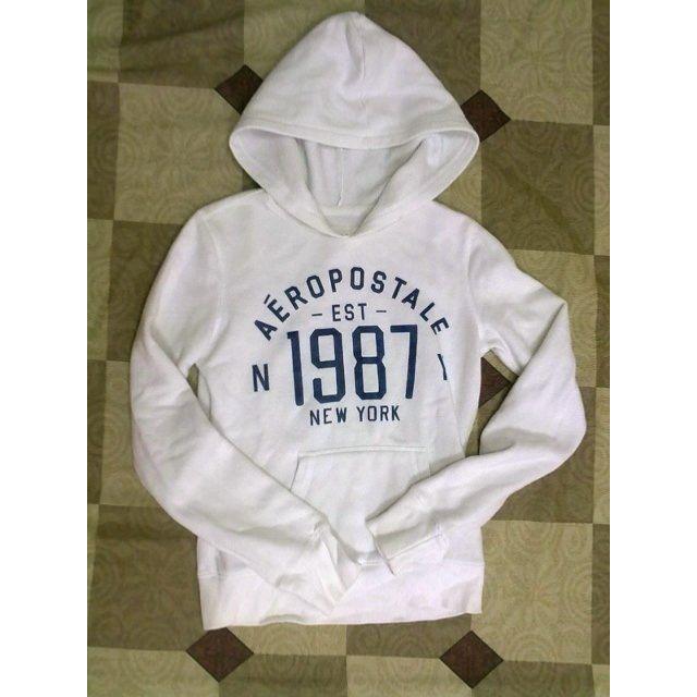 Aeropostale 白色內刷毛連帽T恤 hoodies