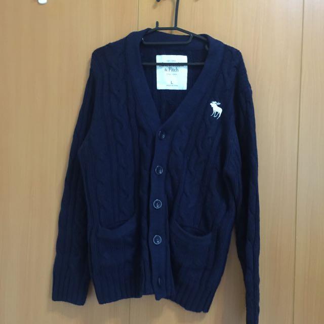[保留中] AF非正品 厚針織外套 L 深藍