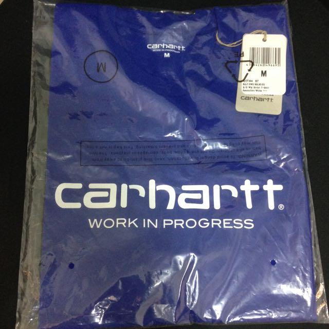 Carhartt Tee 短袖 藍 經典 Logo