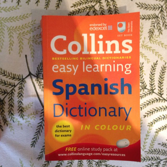 Collins Spanish Dictionary, Books & Stationery on Carousell
