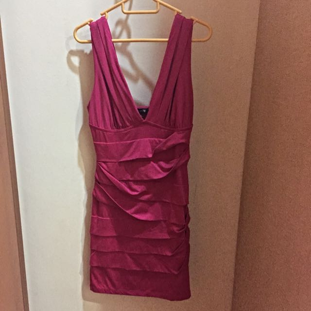 F21 Herve Leger Inspired Bandage Dress in Pink