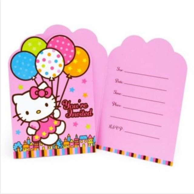 Hello Kitty Invitation Card Pty 05 Everything Else On Carousell