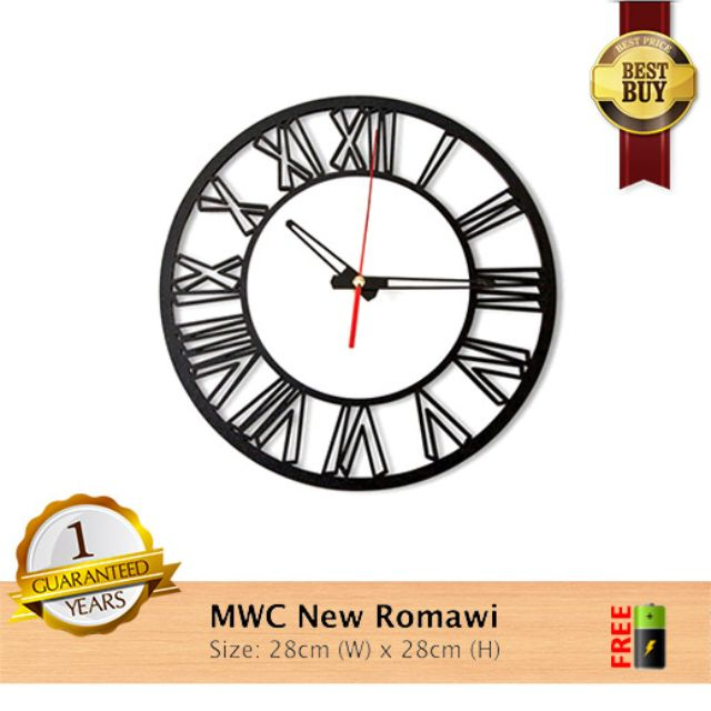 Jam Dinding NEW ROMAWI ~ Modern with High Quality Woods 0729480e12