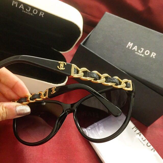 Major Made自創品牌金鍊墨鏡-黑