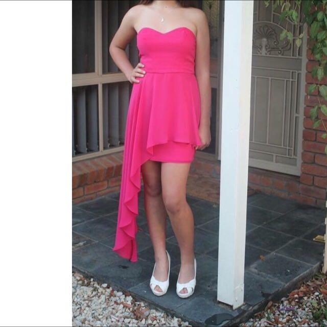 Pink Pilgram Strapless Dress