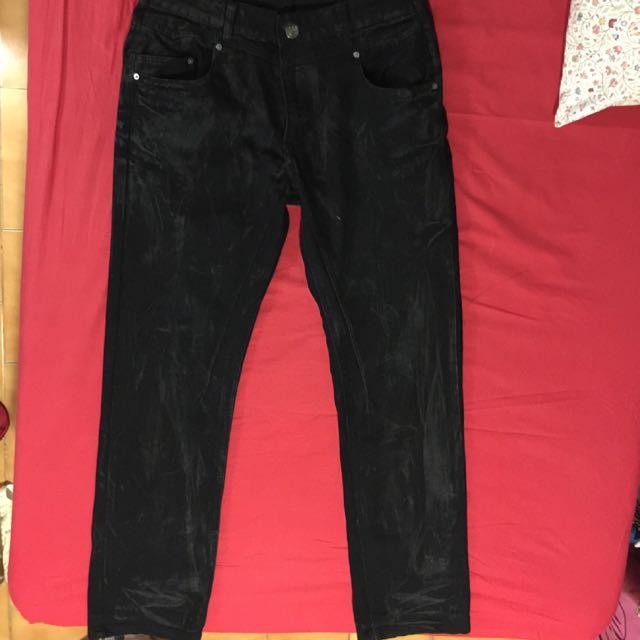 PSGB黑色牛仔褲(全新品)