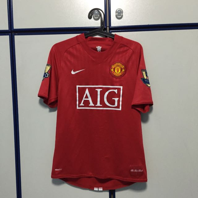 check out b58d1 d1604 Ronaldo Man Utd Home Jersey (07/08), Sports on Carousell