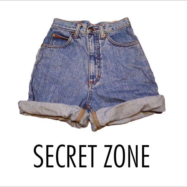 [古著SALE]SECRET ZONE / Lee 高腰牛仔短褲