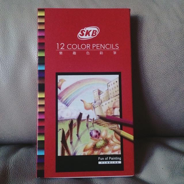 🎨SKB樂趣色鉛筆12色